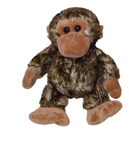 macaquinho de pelúcia - macaco - safari