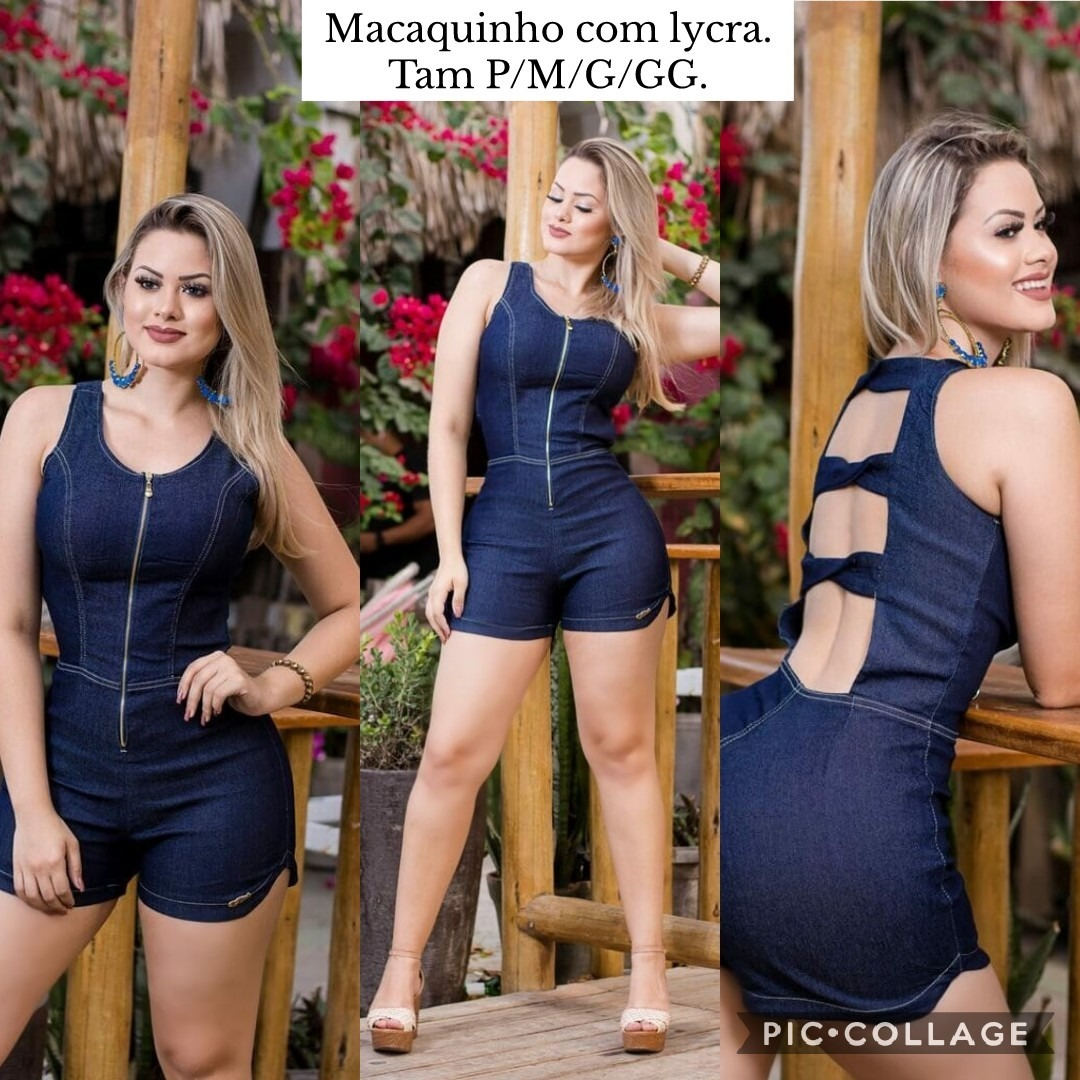 52134c6d8a macaquinho feminino jeans lançamento moda primavera verão. Carregando zoom.