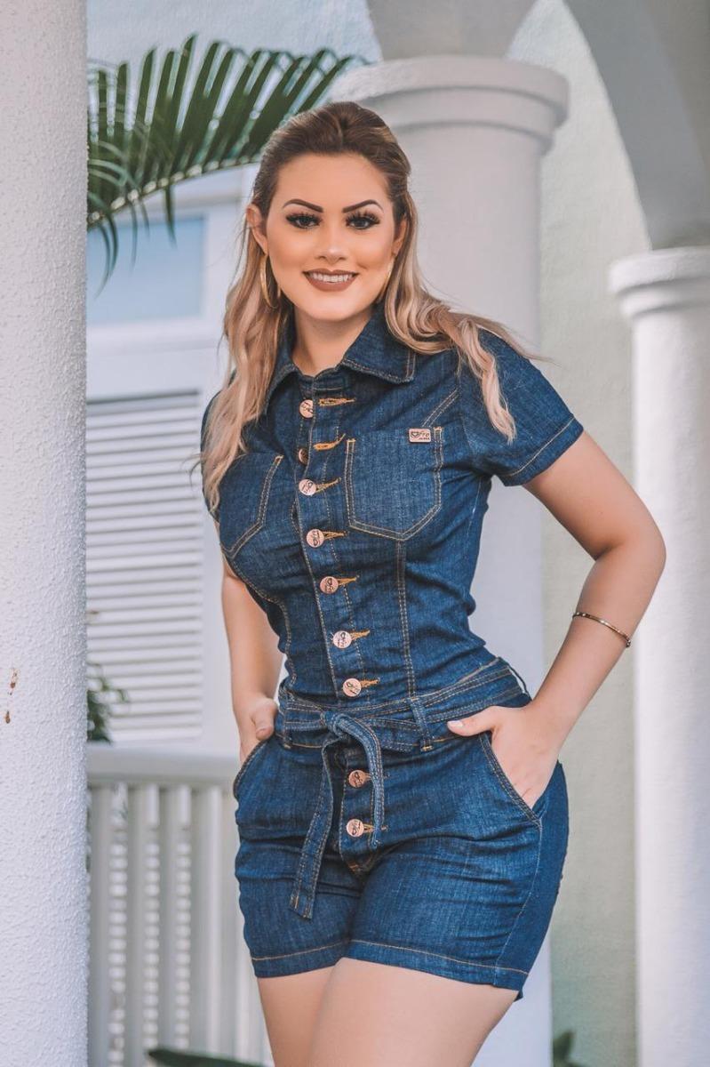 25a48bf956 macaquinho feminino jeans moda verão 2019. Carregando zoom.