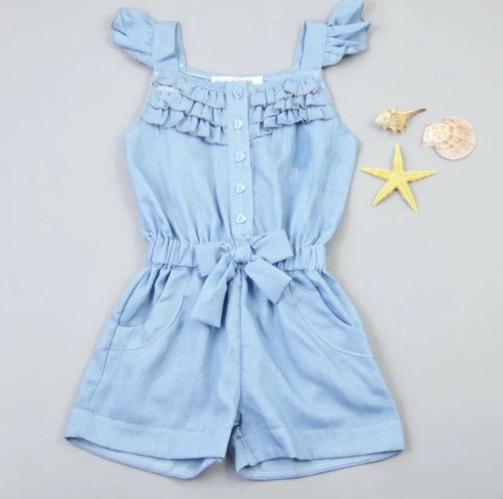 Macaquinho jardineira infantil jeans r 52 90 em mercado for Jardineira jeans infantil c a