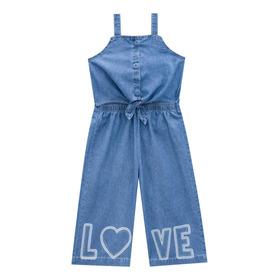 Macaquinho Kukie Love Jeans