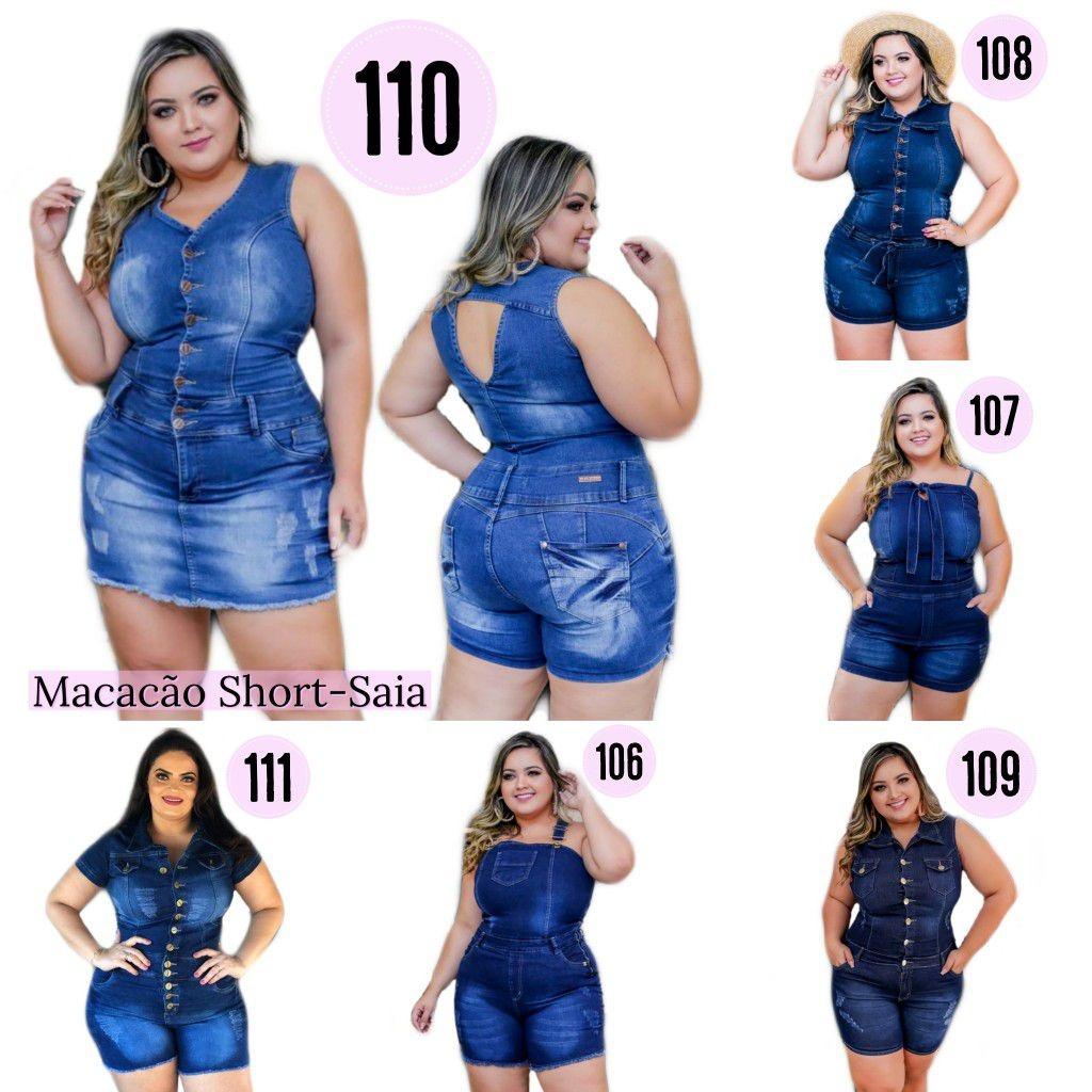 79f58104bbef macaquinho macacao jeans feminino plus size e grande curves. Carregando zoom .