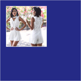 9e04e4e93 Macacão Chic - Macacão Manga Curta para Feminino no Mercado Livre Brasil