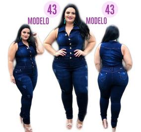 01f4d4c2e Macacão Macaquinho Plus Size - Calçados, Roupas e Bolsas com o Melhores  Preços no Mercado Livre Brasil