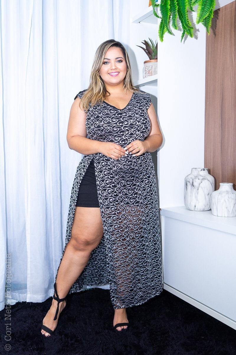 2407d0dafdb9 Macaquinho Macacão Plus Size Renda Fim De Ano Moda - R$ 129,00 em ...