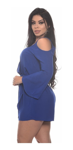 macaquinho transpassado manga longa roupa feminino p m g
