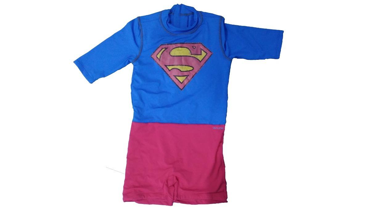 Macaquinho Uv Line Superman Azul vermelho - R  189 ccce6522a2913