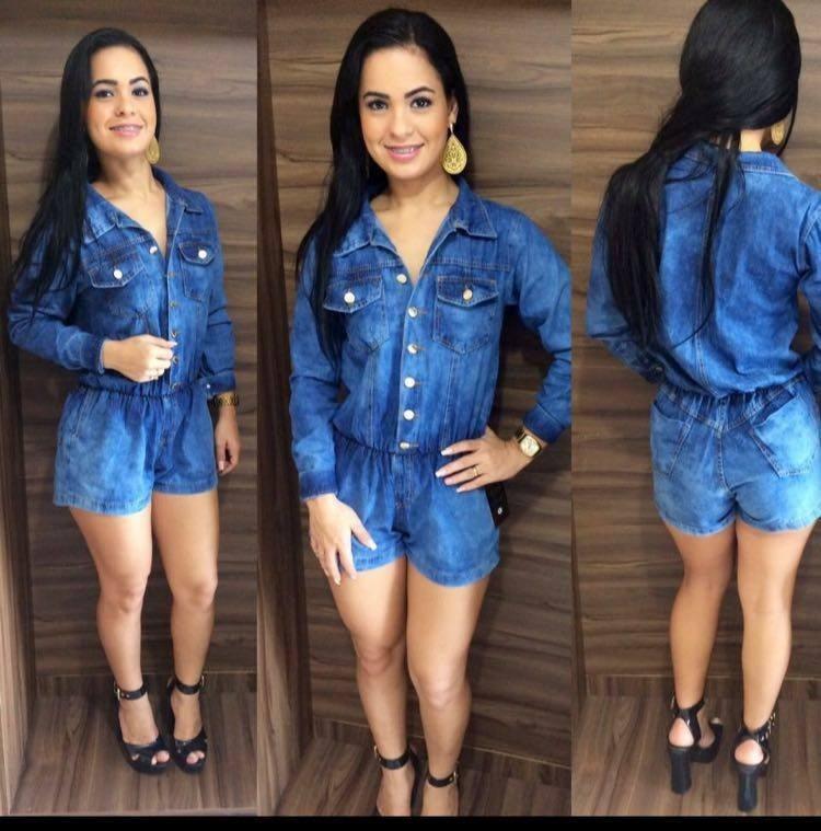 Vestido jeans curto colado