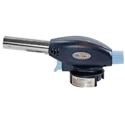 macarico portatil com controle manual das chamas + 2 refil