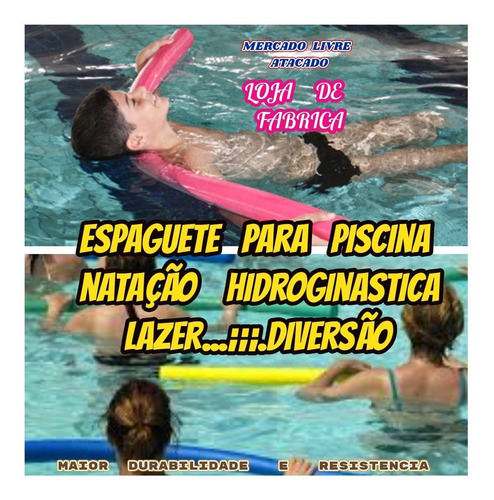 macarrão flutuante para piscina natação kit com 20++brinde
