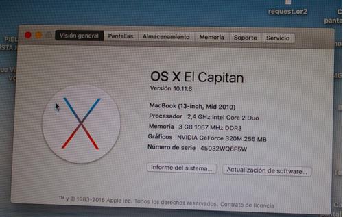 macbook 13 7,1 apple 500gb unibody