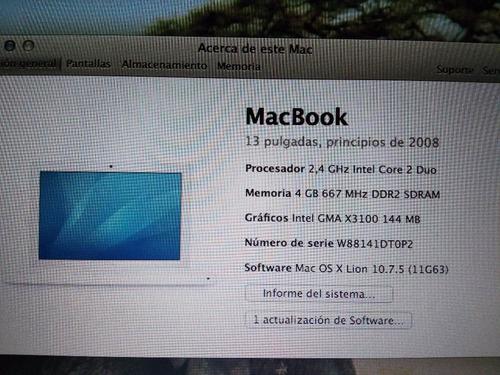 macbook a1181 black con mouse inalambrico y cargador origina