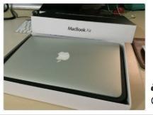 macbook air 13-inch, en $18,500 pesos, cel.809-776-4312