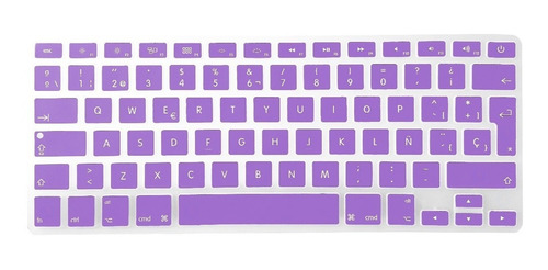 macbook air pro 13 protector de teclado en español silicona