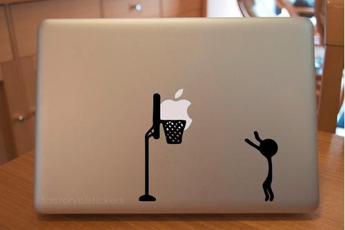 macbook mac laptop stickers basketball