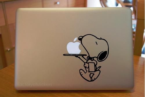 macbook mac laptop stickers snoopy  vinil