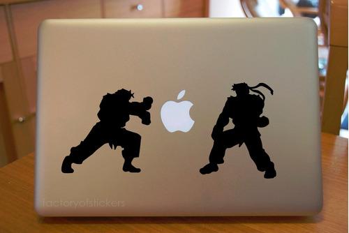 macbook mac laptop stickers street fighter  vinil