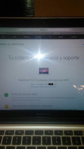 macbook pro 13  core i5 320gb 4gb 2011 cambio o vend