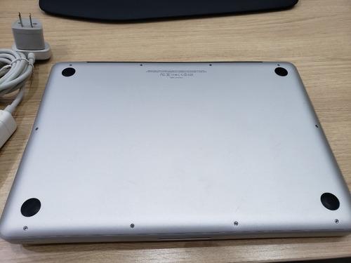 macbook pro 13 i7 2.8gz,8gb,250 gb-ssd,pl.vídeo intel 512mb