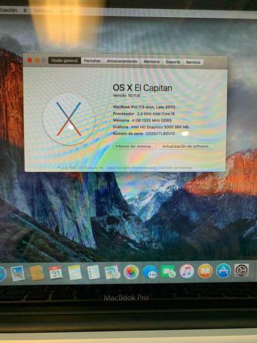 macbook pro (13-inch, late 2011)