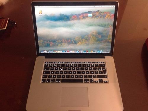 macbook pro 15 pantalla retina core i7 modelo 2013