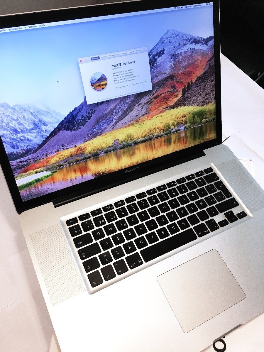Macbook Pro 17 I7 2 4 8g 750g 1g Video 10 14 Mojave 2011 Caj - $ 35 000,00