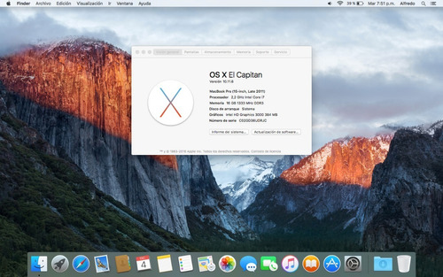macbook pro 2011 15 core i7 | disco ssd 500gb | 16gb ram