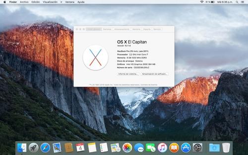 macbook pro 2011 15 core i7 | ssd 120 + hdd 500 | 8gb ram