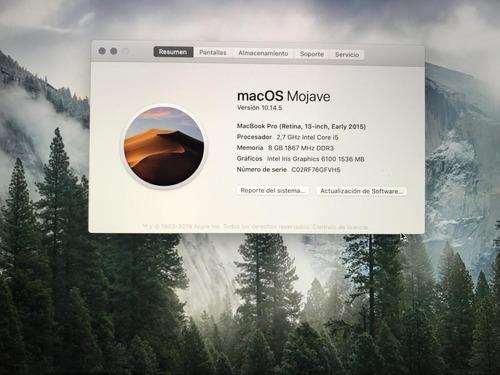 macbook pro 2015 70 ciclos de carga