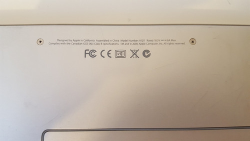 macbook pro aluminio 15  (para repuesto)