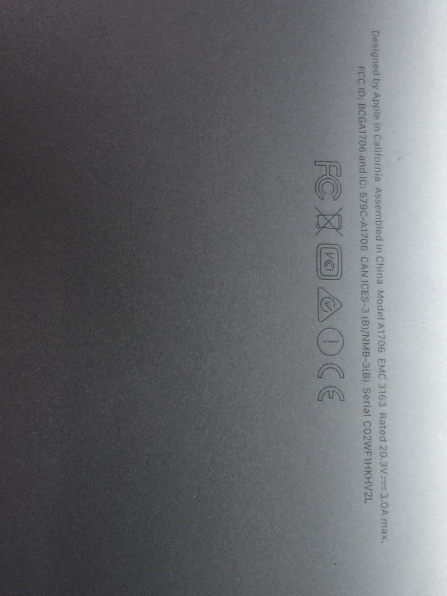 Macbook Pro Intel Iris Plus Graphic 655 Gris Espacial - $ 30,000 00
