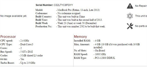 macbook pro retina 13 modelo a1502