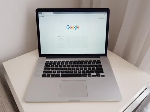macbook pro retina 15' intel core i7 2,5 ghz 16gb hd 500gb