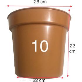 Maceta 10 Pulgadas Plastico Duro Colores 50 Maceteros