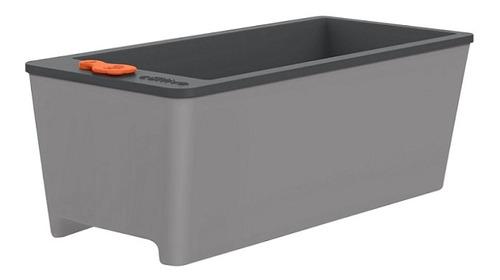 maceta auto-irrigable color gris - tramontina tn1812
