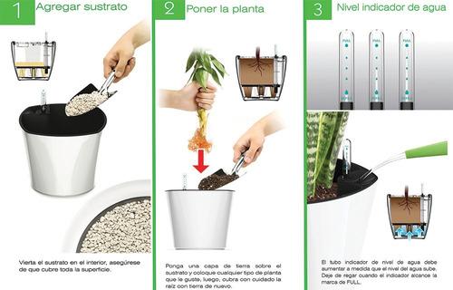 maceta autorregable balconera cl4018 smart garden