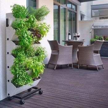maceta autorregable pared hydrofalls muro verde smart garden