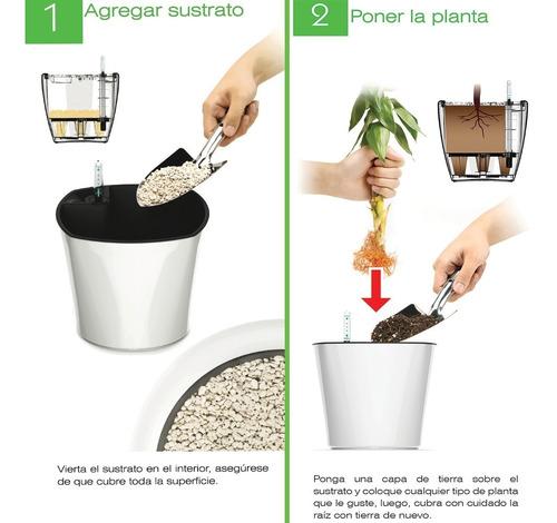 maceta autorregable redonda lq1223 smart garden
