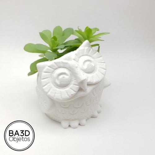 maceta buho ideal suculenta cactus diseño deco impreso 3d