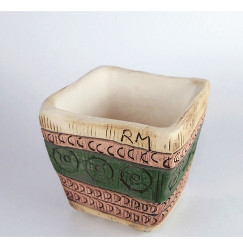 maceta cerámica única 7x7x7cm