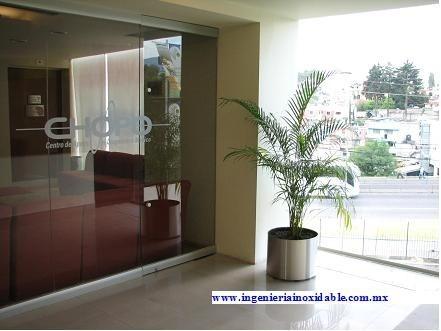 maceta cilíndrica acero inoxidable espejo 47.5x35cm alto