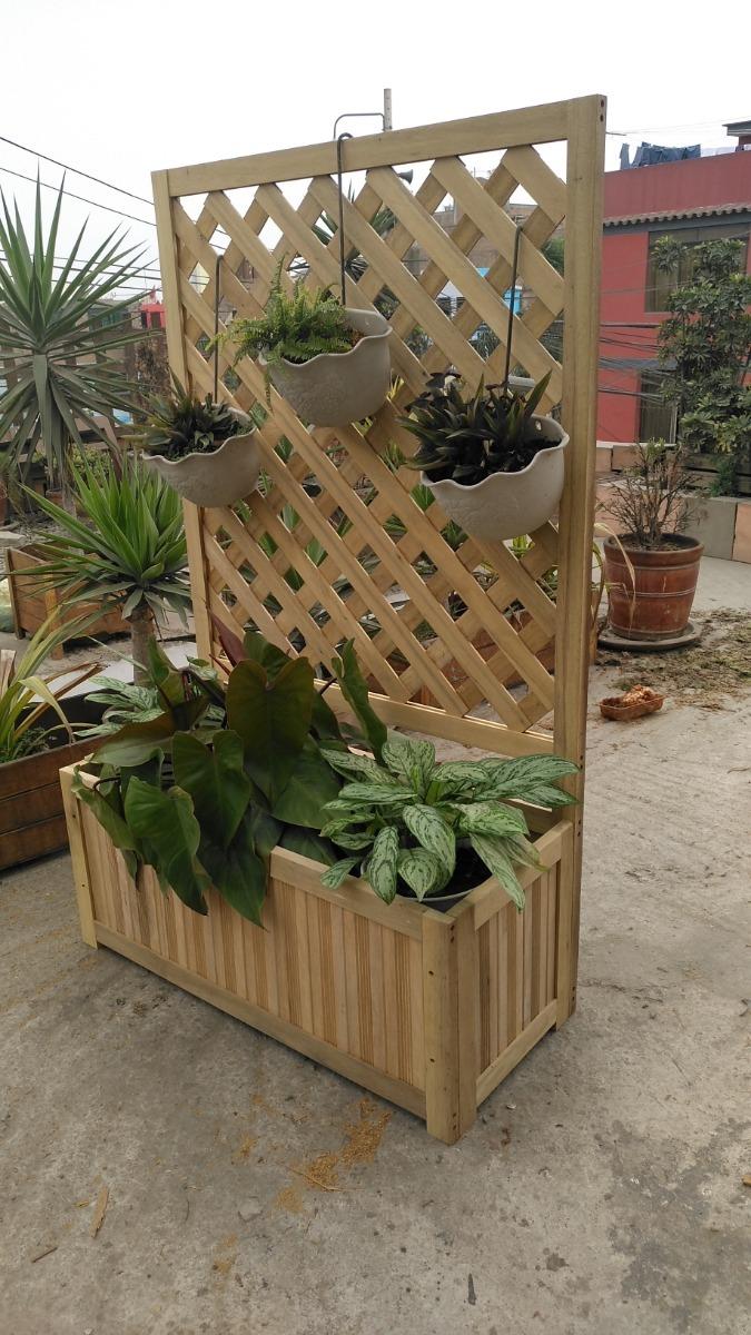 Maceta Colgante Para Jardinera De Madera Celosia Terraza