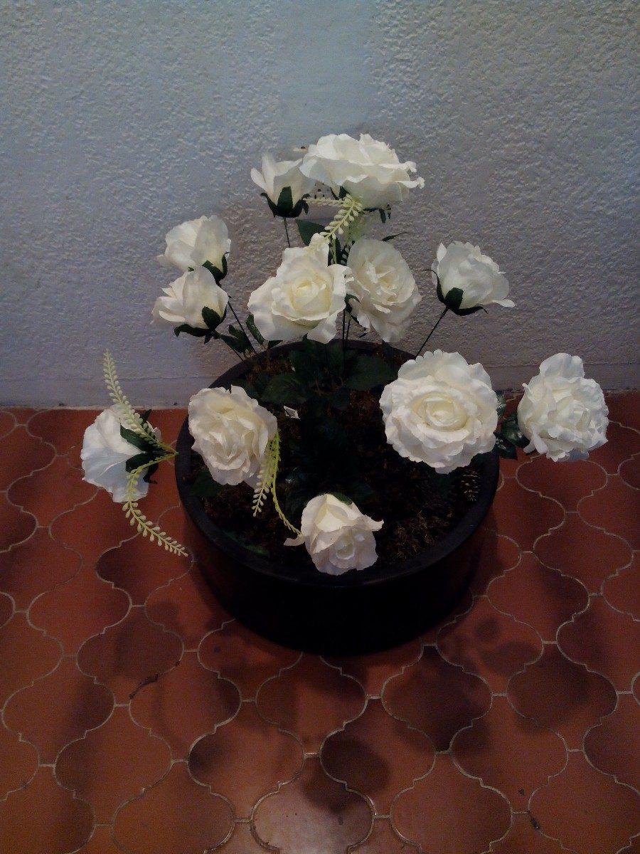 Maceta Con Flores Artificiales Y Luces 1 En