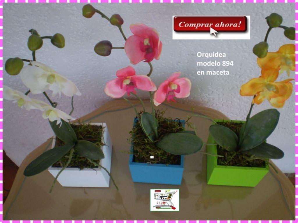 Maceta con flores de orquideas mdn en mercado libre - Macetas para orquideas ...