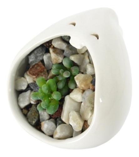 maceta contenedor comelón gota de cerámica