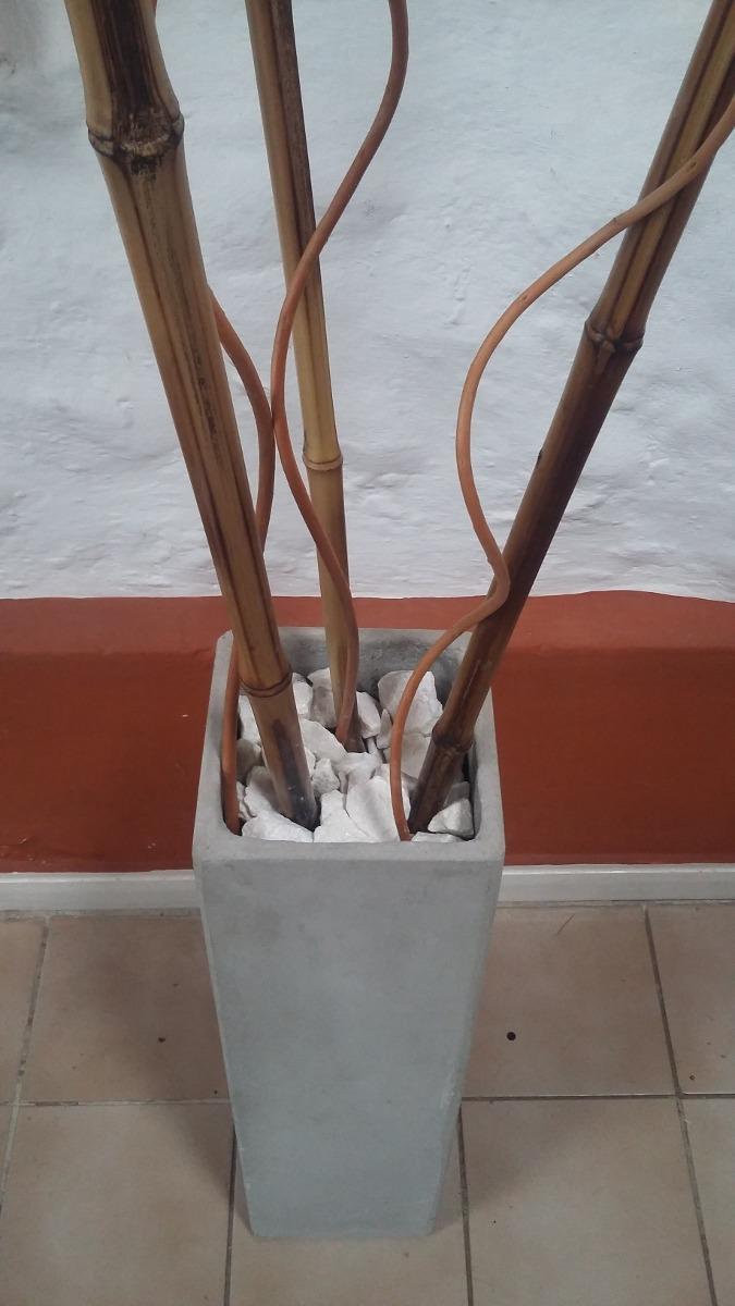 Porta Macetas En Ca A De Bamb Decoraci N Para El Hogar En  ~ Cañas De Bambu Verdes Para Decorar