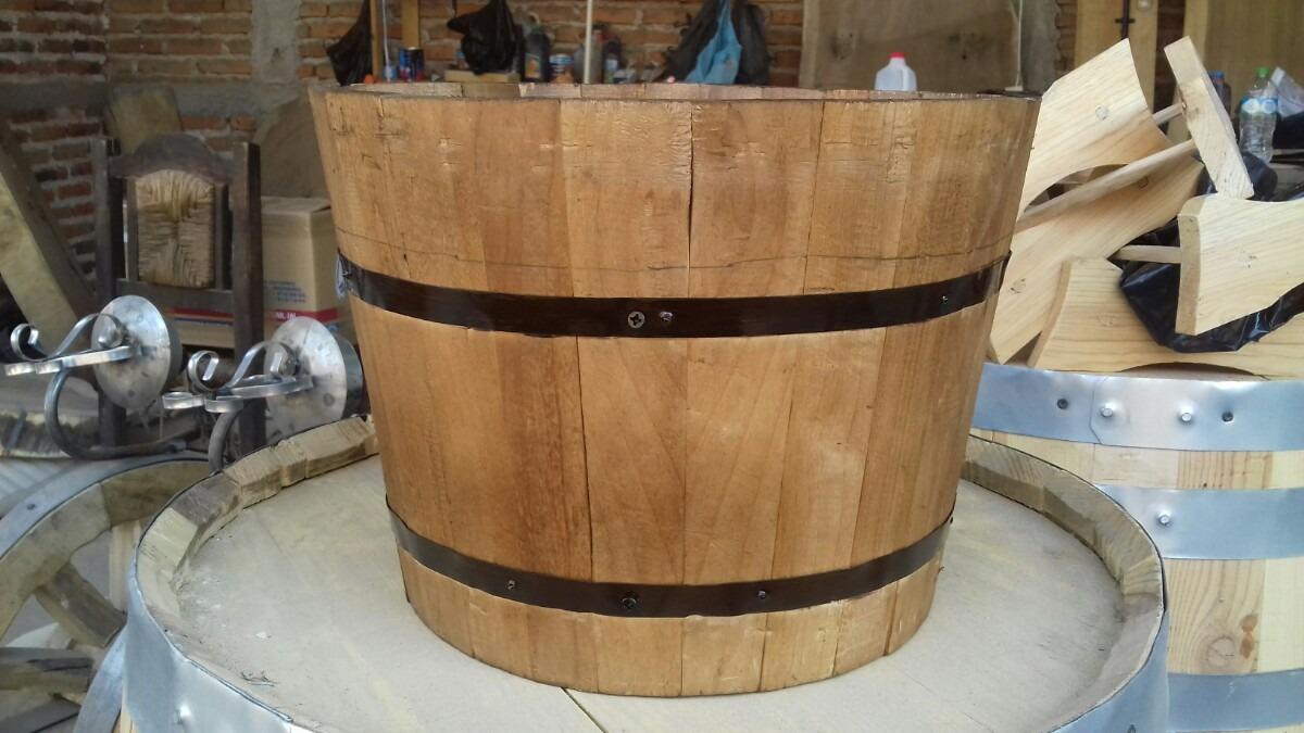 Maceta cubeta de madera en mercado libre - Maceta de madera ...