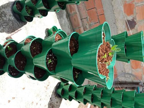 maceta cultivo hidroponico vertical para 40 plantas