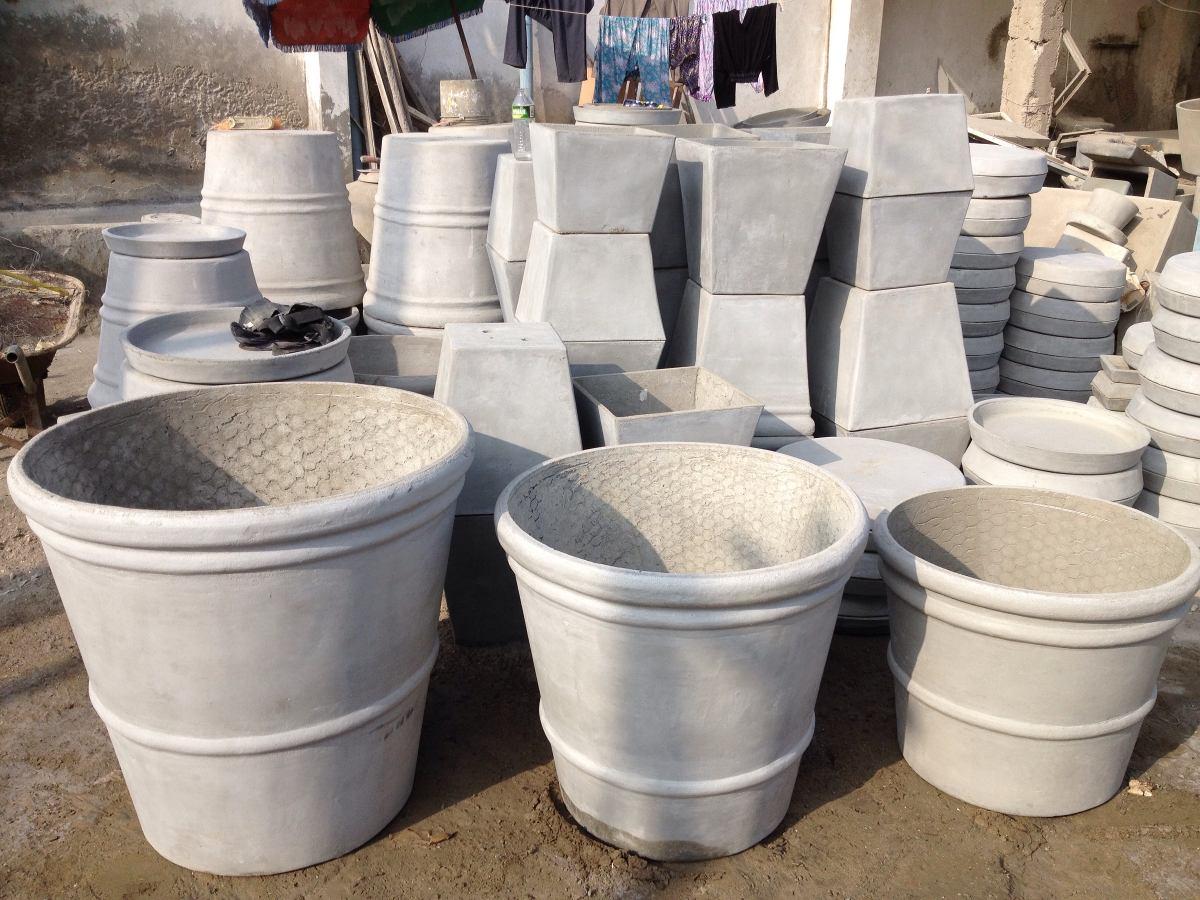 Maceta de cemento ans mexicana grande s 300 00 en - Maceta de cemento ...