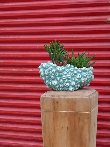 maceta de cerámica esmaltada coral-tienda puro diseño